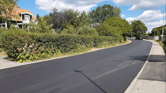 Асфальтированная дорога дачи